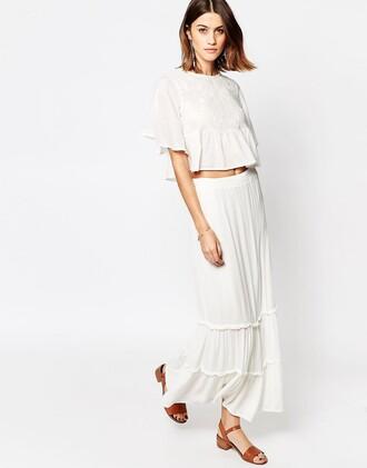 skirt white maxi skirt maxi skirt white skirt