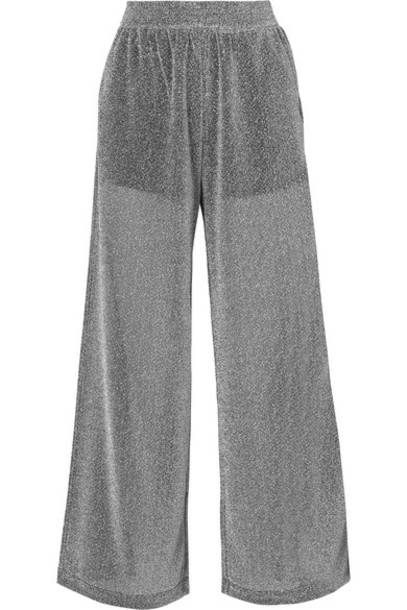 Mm6 Maison Margiela pants wide-leg pants silver