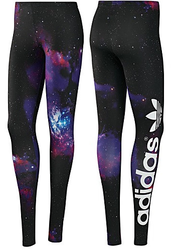 New Womens Adidas Originals Black Big Space Trefoil Leggings Pants Sport Running | eBay