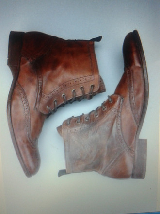 shoes brogue brown boots brown leather boots leather