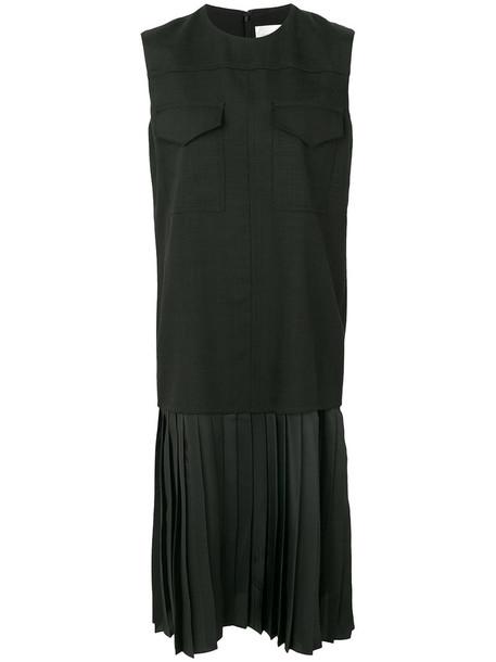 Victoria Victoria Beckham dress pleated women spandex black silk