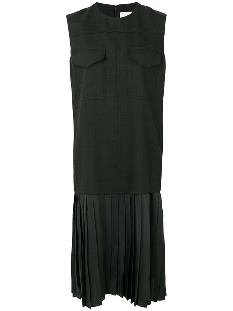 dress pleated women spandex black silk