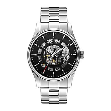 Caravelle New York® Mens Automatic Skletone Dial Bracelet Watch - JCPenney