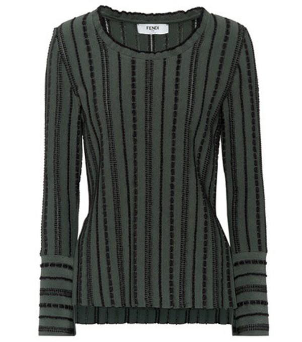 Fendi Knitted sweater in green