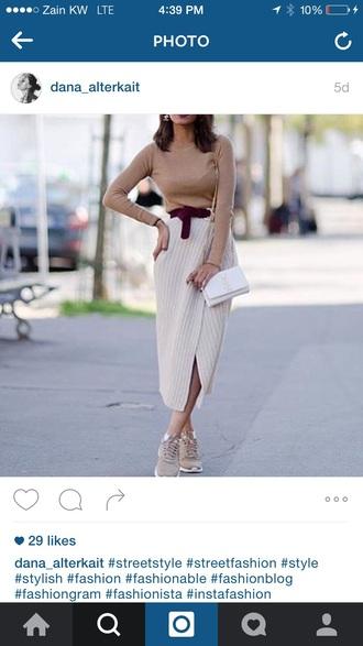 skirt nude wool wrap skirt beige