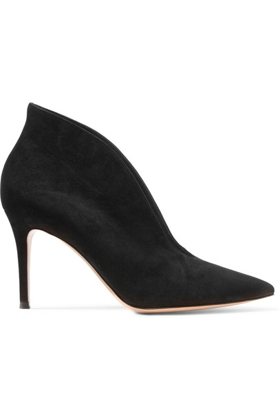 Gianvito Rossi suede ankle boots boots ankle boots suede black shoes