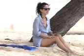 sunglasses,rachel bilson,dress,beach,summer,summer dress