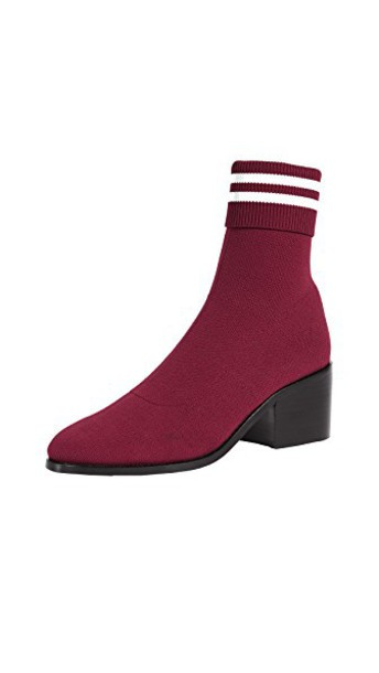 opening ceremony booties burgundy shoes