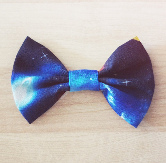 Galaxy Outer Space Hair Bow / Bow Tie Pin by littlehoneypies