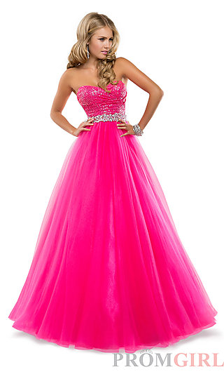 Prom Dresses, Celebrity Dresses, Sexy Evening Gowns - PromGirl: Strapless Sweetheart Ball Gown by Flirt