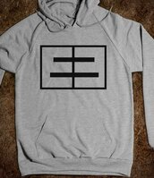 sweater,e3,emblem3,emblem 3,black,grey,sweatshirt