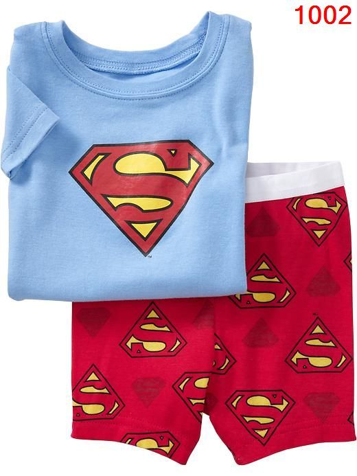 Baby Toddler Kid's Boys Pajamas T Shirt Short Pants Superman Size 2T | eBay