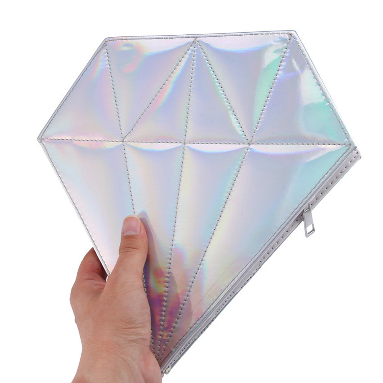 Diamond Shape 10 Pieces Makeup Brush Organizer Beauty Tools Unicorn Cosmetic Bag