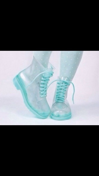 shoes wellies rain boots clear pastel goth pastel goth cute hell clear boots