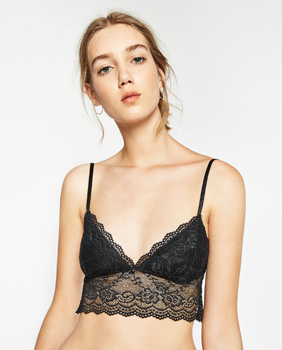 LACE CROP TOP - Cropped-T-SHIRTS-WOMAN | ZARA United States
