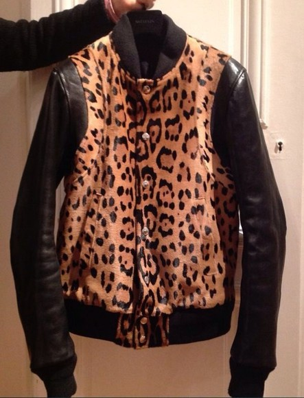 leopard print leopard print jacket coat leather jacket