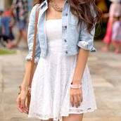 jacket,dress,white dress,white,hipster,summer,skirt,hat,shirt,lace,textured,cream,spring,casual,cute,picnic,knee length,small,holes,polka dots,pattern,paisley,gap,gap jean jacket,denim jacket,gap denim,denim,brunette,brune,long hair,jewelry,gold,casual dress,strapless,sleeveless,bandeau,lovely,tunic,top,flats,knee length dress,jewels,spring jacket,necklace,hair,bracelets,jeans,blanc,sac à main,courte,blanco,robes,veste,veste en jean,dentelle,bustier,colier,volants,tule,beautiful,beautiful white dress,blanche,robe,vestido,cute dress