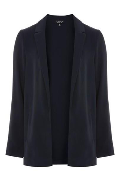 blazer soft navy blue jacket