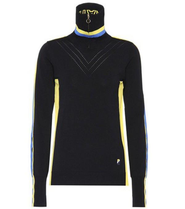 P.E Nation Dead Heat long-sleeved top in black