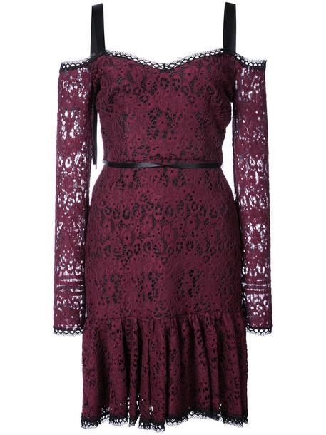 dress mini dress straps mini women spandex lace cotton purple pink