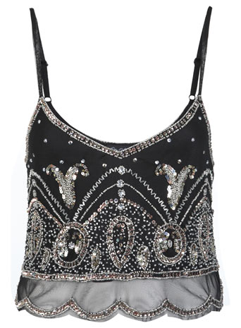 Gold Rush Embellished Cami Top - Miss Selfridge