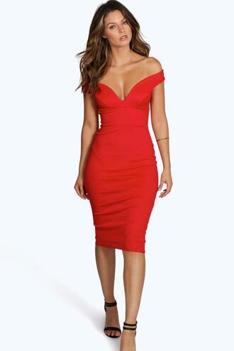 dress bodycon dress black dress off the shoulder dress red dress red bodycon dress knee high dress party dress evening dress