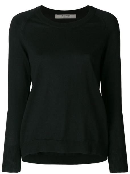 La Fileria For D'aniello - long sleeved pullover - women - Virgin Wool - 48, Black, Virgin Wool