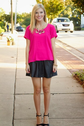 life with emily t-shirt skirt jewels shoes