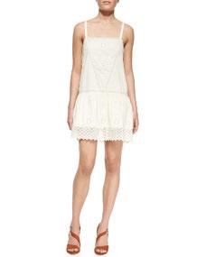 Waist cotton dress