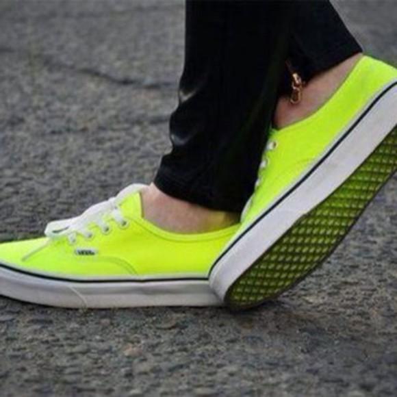 shoes vans neon