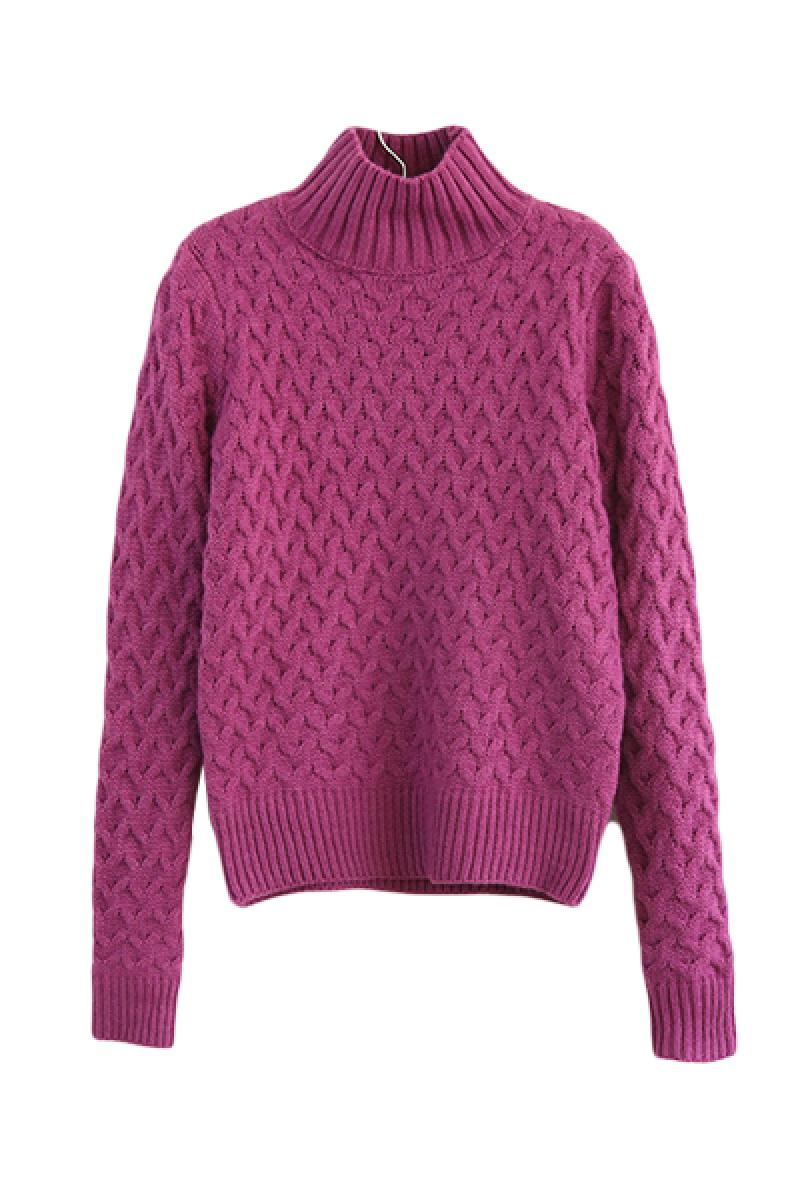 New Vintage Thickened High Collar Pullover Sweater,Cheap in Wendybox.com