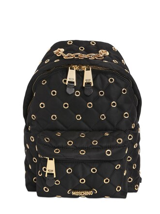 quilted backpack black bag
