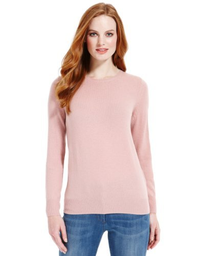 M&S Collection Pure Lambswool Crew Neck Jumper - Marks & Spencer