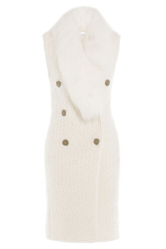 vest mohair wool white jacket