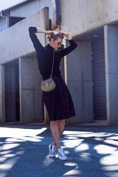 zanita blogger jewels bag sunglasses adidas shoes turtleneck