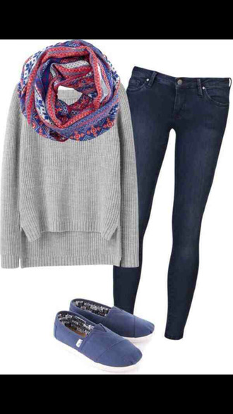 jeans scarf toms