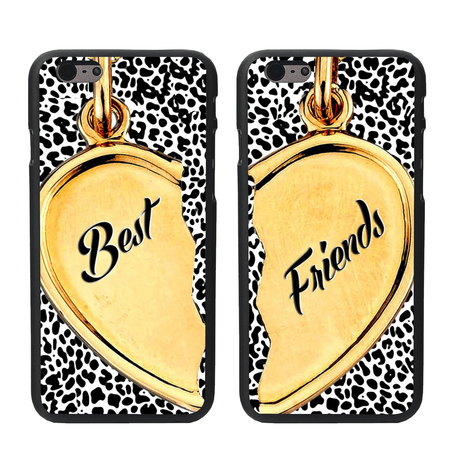 amazoncom vamvaz 2 x cute heart design lovers couple best friends tpu frame hard back case cover skin for 55 iphone 6 plus cell phones accessories