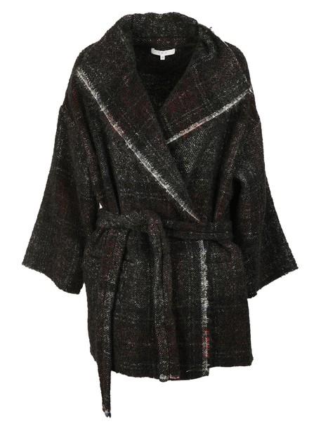 coat black red