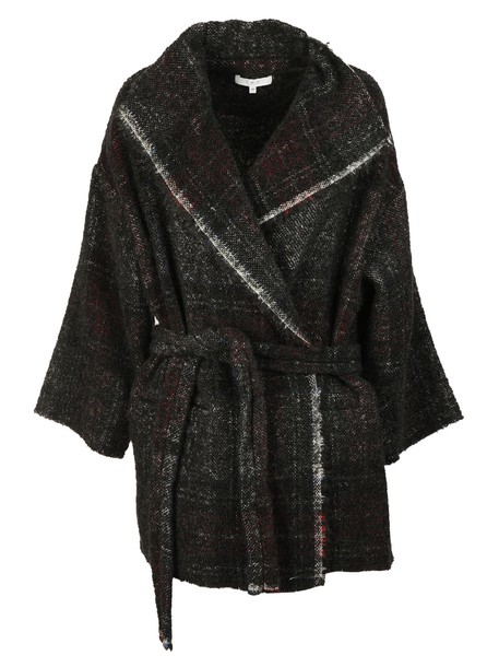 Iro coat black red