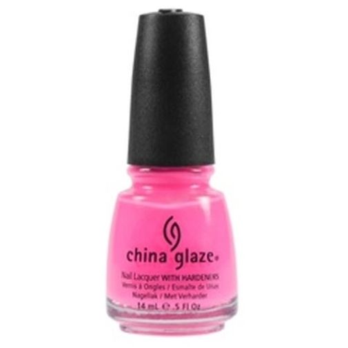New china glaze nail polish lacquer shocking pink 70293 5 oz