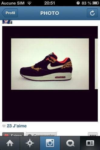 shoes air max nike air max nike air max 1 leopard print safari cool red yellow black leopard shoes