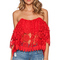 Tularosa amelia crop top in cayenne from revolve.com