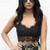 Eyelash Lace Strappy Bralet in Black – One Nation Clothing