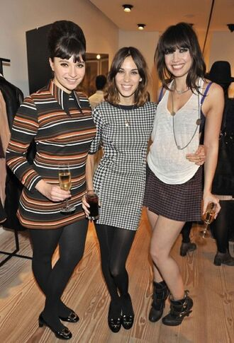 dress daisy lowe medium heels ankle boots buckles alexa chung high heels