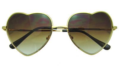 Chloe heart sunglasses in gold
