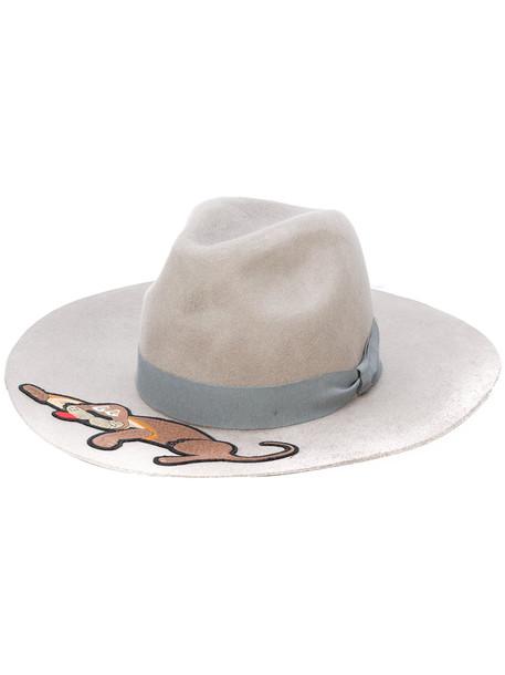 chic dog hat grey