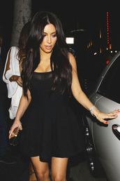 dress,black,kim kardashian,little black dress,clubwear,black dress,black kim kardashian dress,fashion,style,chic,trendy,outfit,skater dress,mesh dress