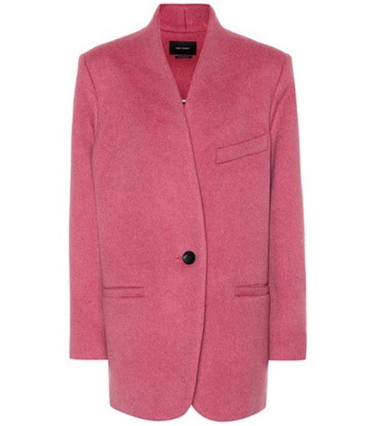 Isabel Marant Felis wool jacket in pink
