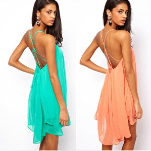 dress chiffon dresses backless dress