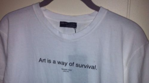 Zara art is a way of survival shirt sold out yoko ono inspired t shirt